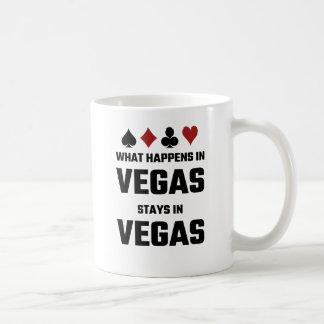 Qué sucede en las estancias de Vegas en Vegas Taza