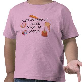 ¡Qué sucede en las ESTANCIAS de YaYa en YaYa! Camisetas