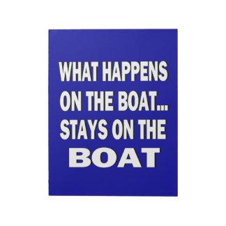 Qué sucede en las estancias del barco en el barco bloc de papel