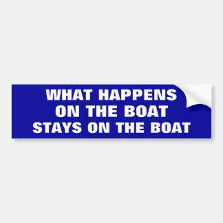 Qué sucede en las estancias del barco en el barco  pegatina para auto