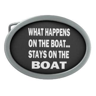 Qué sucede en las estancias del barco en el barco hebillas cinturón ovales