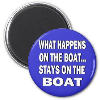Qué sucede en las estancias del barco en el barco imán redondo 5 cm