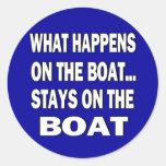 Qué sucede en las estancias del barco en el barco etiqueta redonda