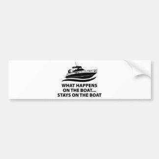 Qué sucede en las estancias del barco… en el barco pegatina para auto