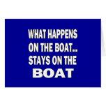 Qué sucede en las estancias del barco en el barco  tarjetas