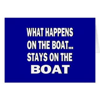 Qué sucede en las estancias del barco en el barco  tarjeta de felicitación