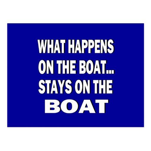 Qué sucede en las estancias del barco en el barco  postal