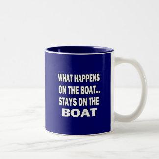 Qué sucede en las estancias del barco en el barco  taza dos tonos