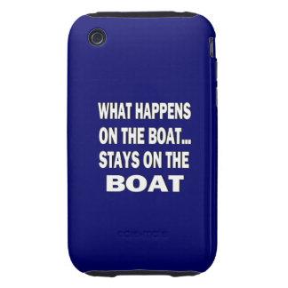 Qué sucede en las estancias del barco en el barco tough iPhone 3 carcasas