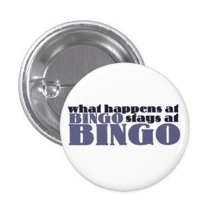 Qué sucede en las estancias del bingo en el bingo pin redondo de 1 pulgada