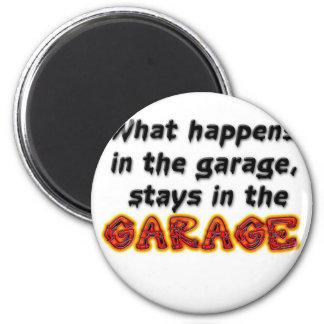 Qué sucede en las estancias del garaje en el garaj imán redondo 5 cm