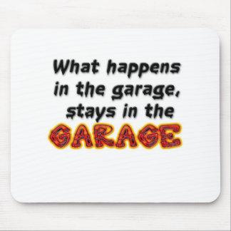 Qué sucede en las estancias del garaje en el garaj alfombrilla de ratón