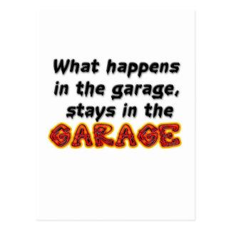 Qué sucede en las estancias del garaje en el postal