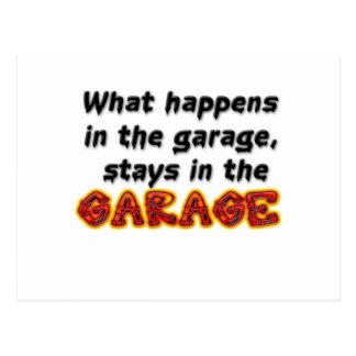 Qué sucede en las estancias del garaje en el tarjetas postales