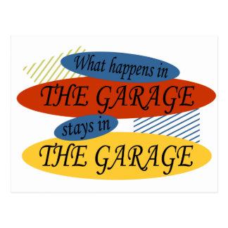 Qué sucede en las estancias del garaje tarjeta postal