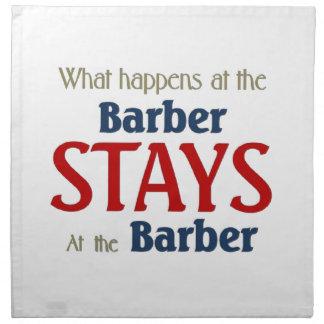 Qué sucede en las estancias del peluquero en el pe servilletas