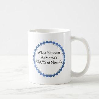 Qué sucede en Mema… ESTANCIAS en Mema Taza De Café