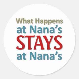 Qué sucede en Nana Pegatina Redonda