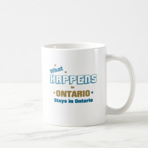 Qué sucede en Ontario Taza De Café