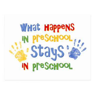 Qué sucede en preescolar postal