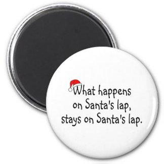 Qué sucede en Santas traslape las estancias en el  Imán Redondo 5 Cm