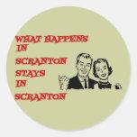 Qué sucede en Scranton Etiqueta Redonda