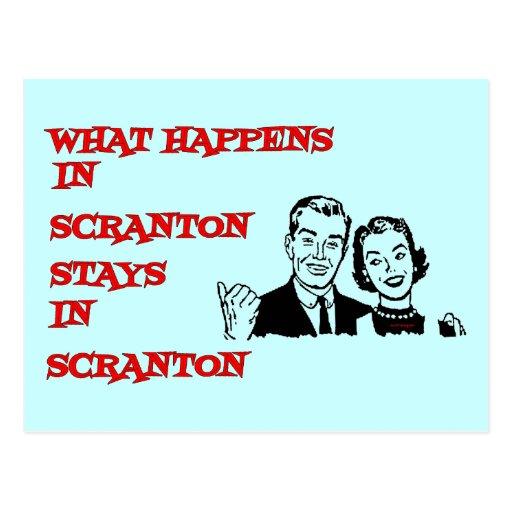 Qué sucede en Scranton Tarjeta Postal