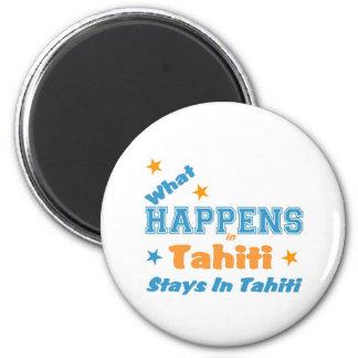 Qué sucede en Tahití Imán Redondo 5 Cm