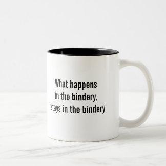"""""""Qué sucede en taza de café de la encuadernación"""""""