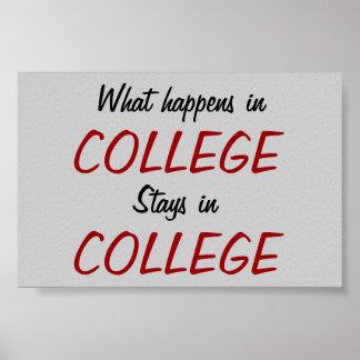 Qué sucede en universidad… Impresión del poster