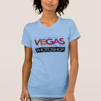Qué sucede en Vegas se puede fijar con Photoshop Camiseta