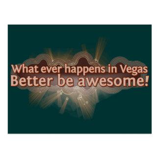 ¡Qué sucede nunca en Vegas mejor sea impresionante Tarjeta Postal