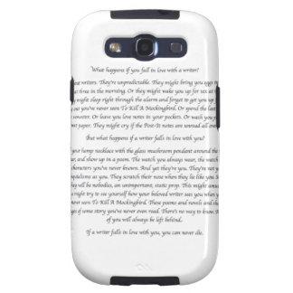 ¿Qué sucede si usted cae en amor con un escritor? Samsung Galaxy SIII Funda