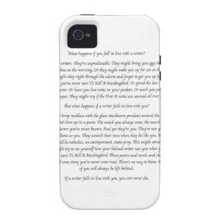 ¿Qué sucede si usted cae en amor con un escritor? Case-Mate iPhone 4 Carcasa