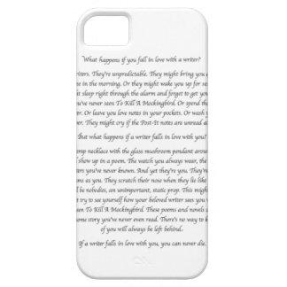 ¿Qué sucede si usted cae en amor con un escritor iPhone 5 Case-Mate Funda