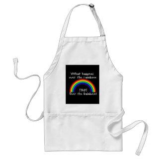 Qué sucede sobre el arco iris… delantal