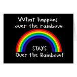 Qué sucede sobre el arco iris… felicitación