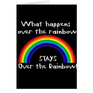 Qué sucede sobre el arco iris… tarjeta