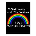 Qué sucede sobre el arco iris… tarjeta postal