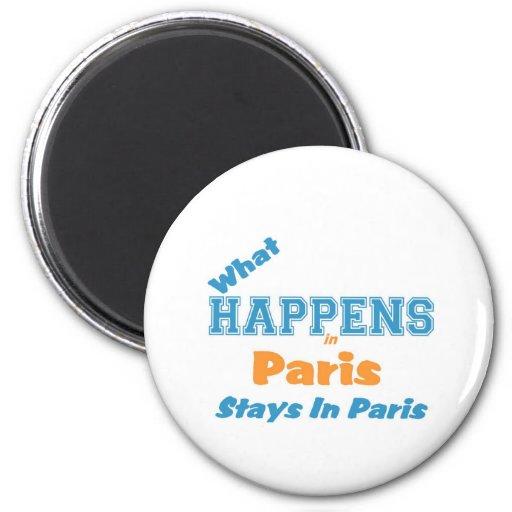 Qué suceden en París Imán Para Frigorífico