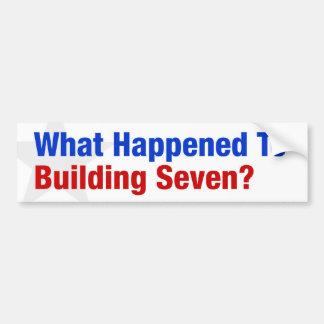 ¿Qué sucedió a construir siete? Etiqueta De Parachoque