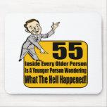 Qué sucedió los 55.os regalos de cumpleaños alfombrillas de raton