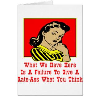 Qué tenemos es un fracaso para dar un Rata-Asno Felicitacion