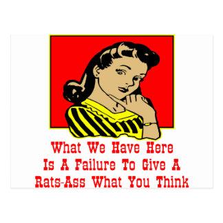 Qué tenemos es un fracaso para dar un Rata-Asno Tarjetas Postales