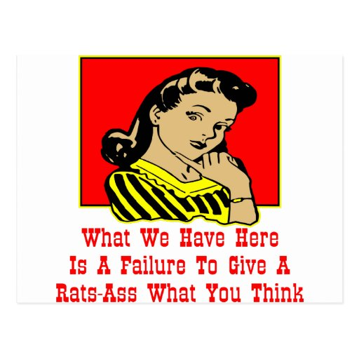 Qué tenemos es un fracaso para dar un Rata-Asno Postal
