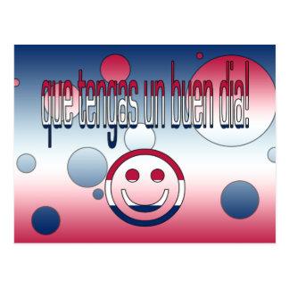 Que Tengas un Buen Día! America Flag Colors Post Card