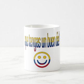 Que Tengas un Buen Día! Colombia Flag Colors Coffee Mug