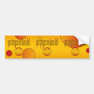Que Tengas un Buen Día! Spain Flag Colors Pop Art Bumper Sticker