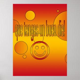 Que Tengas un Buen Día! Spain Flag Colors Pop Art Poster