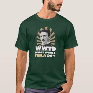 Qué Tesla haría la camiseta